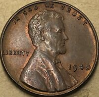 1940-P Uncirculated Lincoln Wheat Penny. 1940 -p Copper Small Wheat Cent.