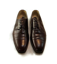 Rodolfo Valentino Mens Shoes Brown Leather 13M Cap Toe Oxford Shoes