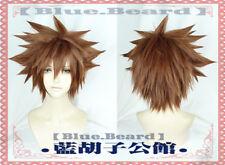 KINGDOM HEARTS 3 Sora Short Brown Yellow Anime Cosplay Wig (Need Styled) +Cap