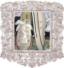 Customised Bling crystal Diamanté lo Converse size 3-8 weddings bridesmaids New