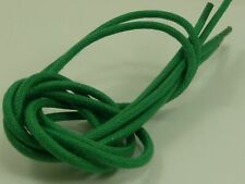 """A New Pair Round Cotton Waxed Green Color Dress Shoelaces 3mm 30"""""""