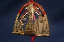 Danbury Mint 23 Kt Gold Pltd Christmas Ornament Statue Of Liberty Gateway To