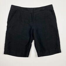 TOMMY BAHAMA Black Linen Silk Blend Bermuda Shorts - Size 10