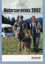 Prospekt Dethleffs Motorcaravans 2002 Katalog Reisemobile Broschüre Wohnmobile