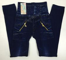 Fashion Womens Girls Warm Jeans Legging Pants Stretch Fleece SKINNY Fit-au
