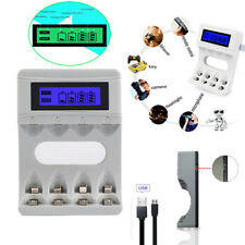 for NiCd Slots Display Charger NiMH Smart 4 LCD Rechargeable Battery Aa/aaa