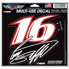 Greg Biffle 2015 Wincraft #16 Roush Fenway Racing 4.5x5.75 Multi Use Decal FREE