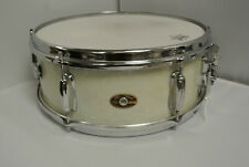 1960's SLINGERLAND 5.5X14 SNARE DRUM in WHITE MARINE PEARL for YOUR SET! #K110