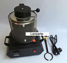 New Type 2KG Electric Melting Furnace Gold Silver Copper Smelter 1100℃ 220V