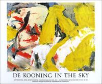 Willem de Kooning In The Sky 1982 Exhibition Poster 26 x 31