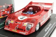 SRC 00802 ALFA ROMEO 33TT12 NURBURGRING 1973 NEW 1/32 SLOT CAR IN DISPLAY CASE