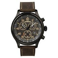Timex T49905 Hombre En Negro Marrón Expedición Field Reloj Cronógrafo