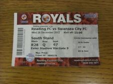 26/12/2012 Ticket: Reading v Swansea City  . Bobfrankandelvis (aka Footy Progs)