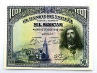 Spain-Billete. Fernando III El Santo. 1000 Pesetas de 1928. SC-/UNC-.
