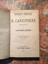 H.Heine: IL canzoniere, traduzione di B.Zendrini, Milano Brigola, 1867, POESIA