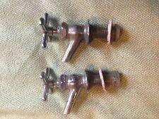 Antique Nickel Brass Hot Cold Mop Sink Faucets Vintage  Plumbing Hardware