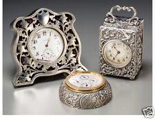 A049 Three English and American Silver Desk Clocks, first quarter 20th century