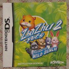 Nintendo DS - ZhuZhu Pets 2 featuring the Wild Bunch (Manual only)