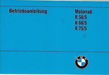 BMW Bordbuch / Betriebsanleitung R 75 60 50 /5 ; R75 /5 R60 R50 R75/5 R60/5 neu