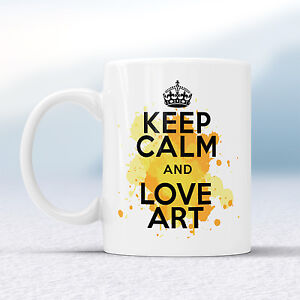Keep Calm And Love ART Splash Mug Gift Plane Lover Air Tattoo Cup Present