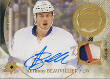 ANTHONY BEAUVILLIER 2016-17 UD Ultimate Collection Auto Patch RC RPA #55/65 NYI