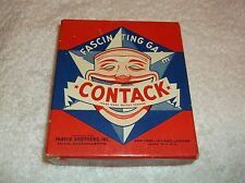 nef. Vintage 1939 Parker Brothers Contack Game Complete With Instructions