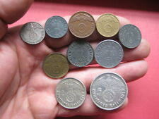 More details for * ww2 nazi german coins with eagle set of 10. deutsches reich 1937-1943, (no.97)