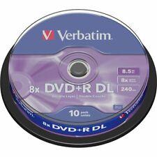 100 DVD +R VERBATIM 100 % 8X DL DUAL DOUBLE LAYER XboX 360 8.5GB 240 MIN