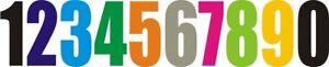 "Wheelie Bin House Numbers & Letters White Self Adhesive names bins Stickers 4""."