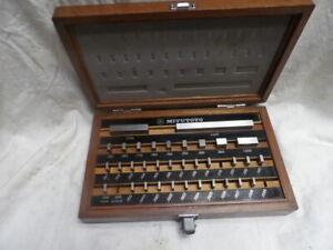 Mitutoyo 516-915 Gage Block Set Grade 3 (missing three)