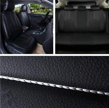 Quality Set Auto Car Front + Rear Seat Cover Cushion Black PU Leather All Season