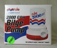 Rule Model 12 Submersible Bilge Pump 24V 2,000 GPH NEW