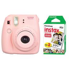 Fuji Instax Mini 8 Fujifilm Instant Film Camera Pink + 20 Sheets Instant Film