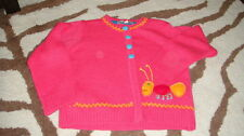 BOUTIQUE LOLA ET MOI 4A 4T PINK CATERPILLAR SWEATER