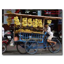 """*Postcard-""""Bananas & More Bananas For Sale"""" ...w/Man On Bike/Cart/-  (B76)"""