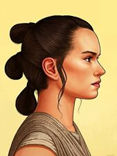 Mike Mitchell Star Wars Movie Poster Mondo Print Portrait REY Force Awakens The