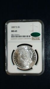 1897 S Morgan Silver Dollar NGC MS65 CAC ACCREDITED $1 Coin PRICED TO SELL!