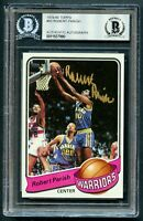 Robert Parish #93 signed autograph 1979-80 Topps Basketball Card BAS Slabbed