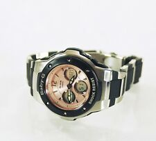 Casio Womens Watch Baby-G MSG 300C G-MS Stainless Steel ROSE GOLD Pre-owned