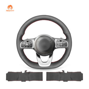 Leather Steering Wheel Cover for Mercedes-Benz C-Class E-Class S-Class 2018