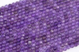 3x2MM Amethyst Beads Grade AAA Genuine Natural Faceted Rondelle Gemstone Loose Beads 111439 196 Pcs