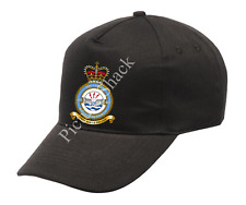 RAF 617 SQUADRON CREST PRINTED ON A BASEBALL CAP. ONE SIZE WITH ADJUSTABLE STRAP