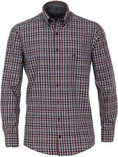 CASA MODA Sport Men's Checked Twill Casual Fit Shirt - Red Size XXL