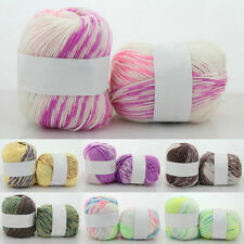 SALE LOT of 1 Skein DK Silk wool cashmere soft baby yarn hand dyed Knitting L