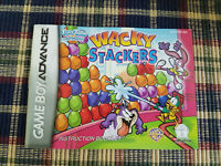 Wacky Stackers - Authentic - Nintendo Game Boy Advance - GBA - Manual Only!