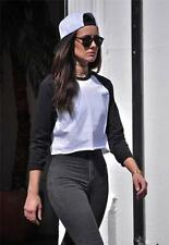 Women's No Pattern Cotton Long Sleeve Sleeve Classic Tops & Shirts