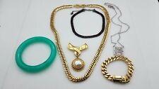 Givenchy Gold Tone Crystal Acrylic Jewelry Lot TS838