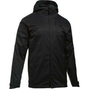 Under Armour Mens Porter Gray 3-in-1 Fleece Lined Jacket Outerwear M  5547
