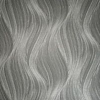 textured wavy lines modern wallpaper Black Gray Silver Metallic glitter waves 3D