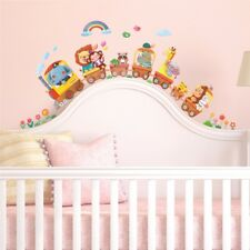Decowall Animals Train Nursery Kids Removable Wall Stickers Decal DS-8024